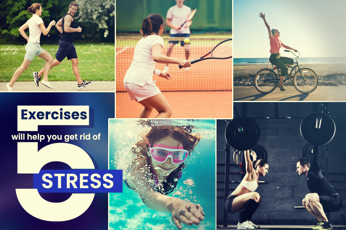 5 excercises will help you get out of stress