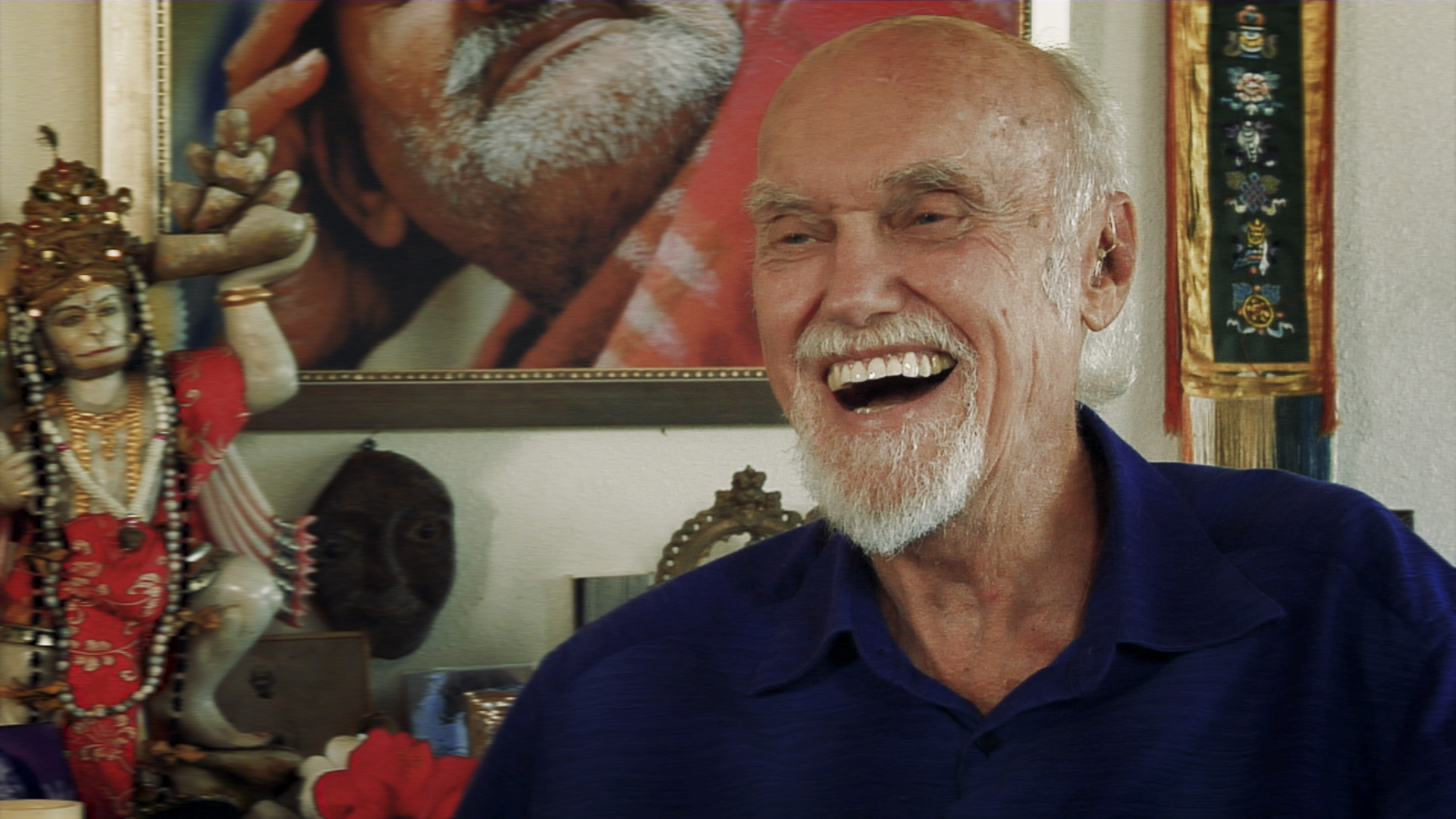 Ram Dass in a still from the upcoming documentary 'Becoming Nobody' by Jamie Catto