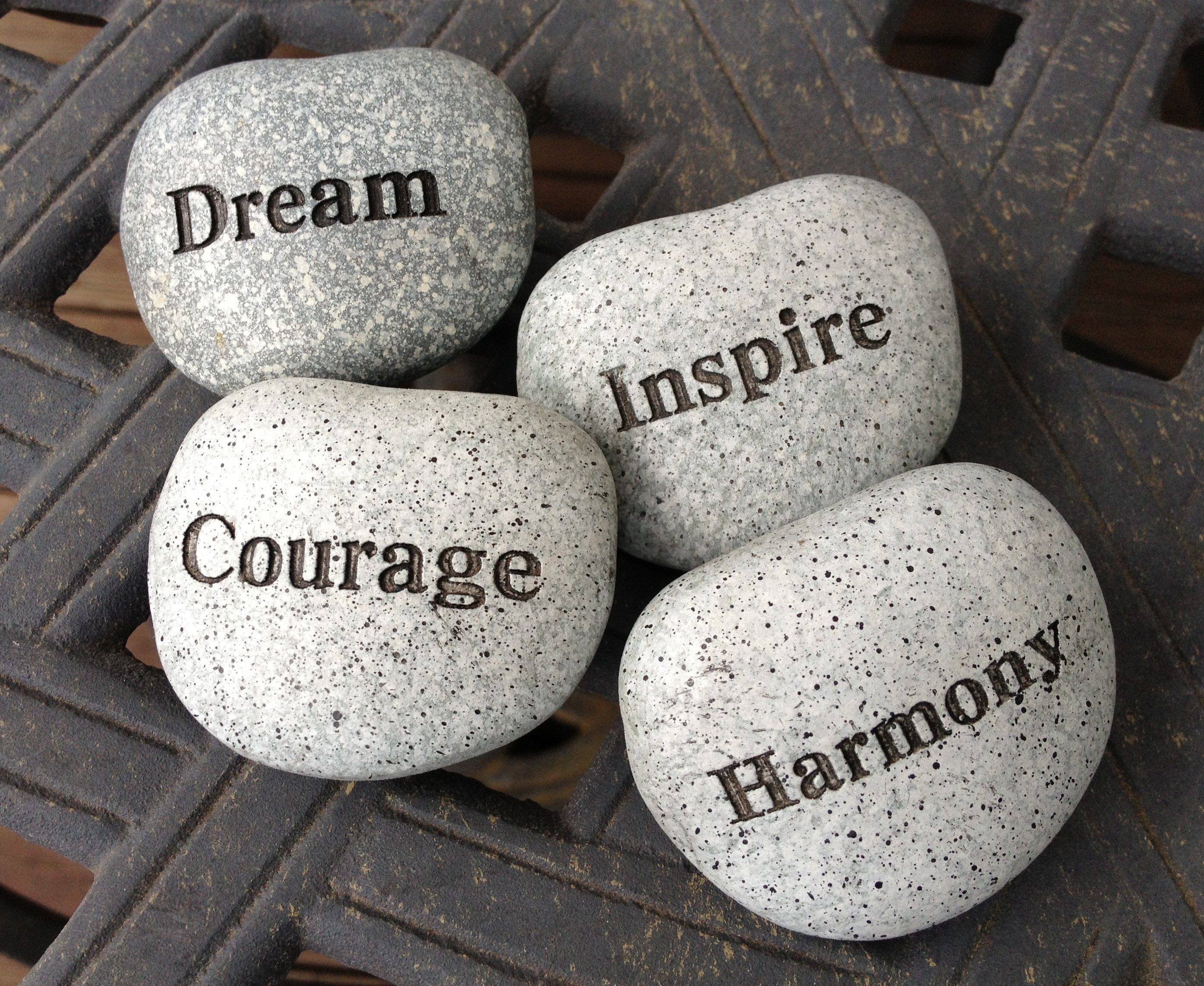 A picture that tells us about dreams courage and inspire carved on stones by mohit bansal chandigarh