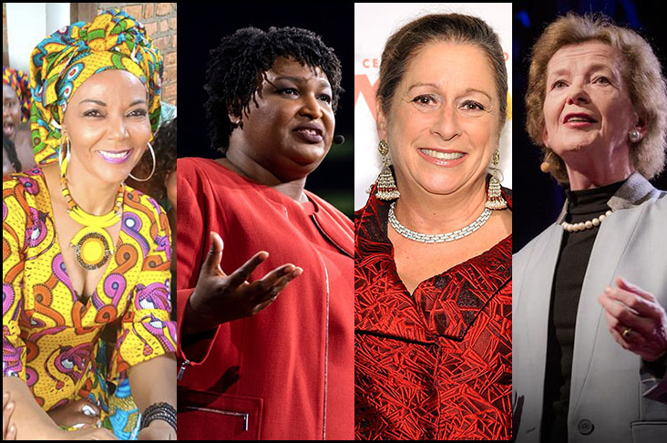 Just a few of the dangerous women I admire: Christine Shuler Deschryver, Stacey Abrams, Abigail Disney, and Mary Robinson