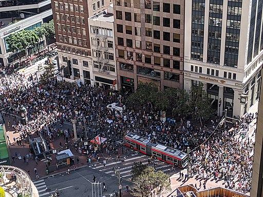 The Global Climate Strike in San Francisco, California USA. September 20, 2019.