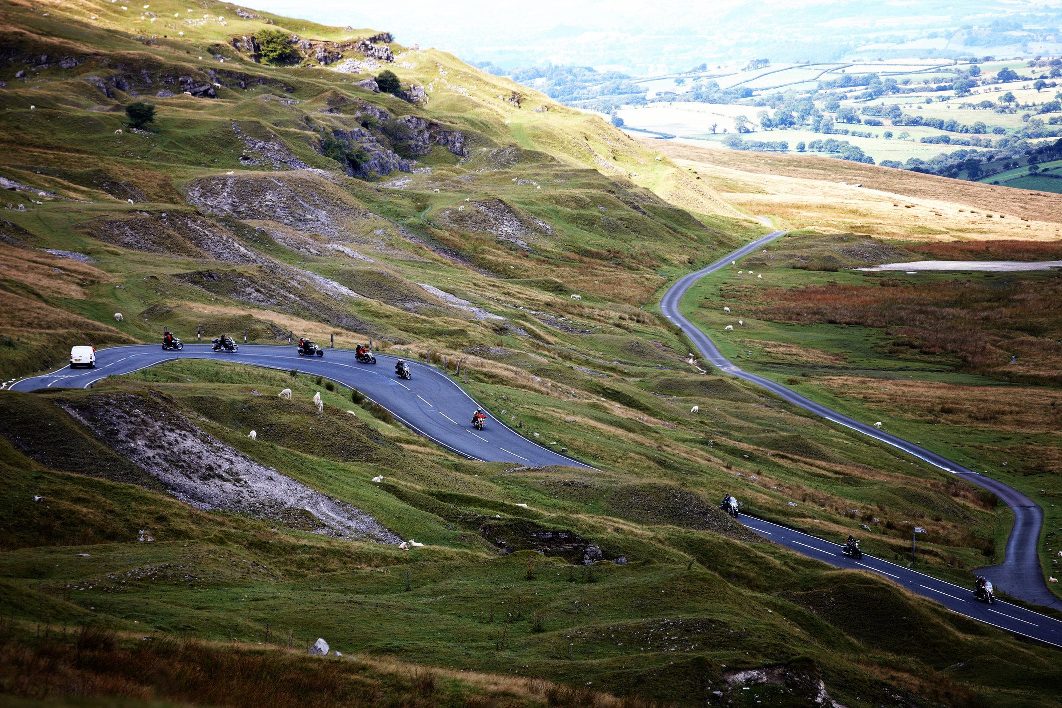 Motorcyclists on Brecon Beacons Road