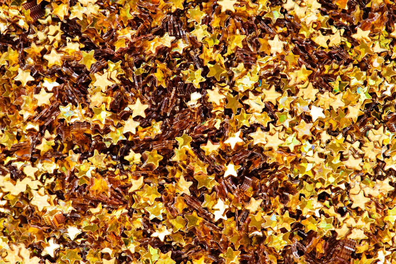 Golden star glitter