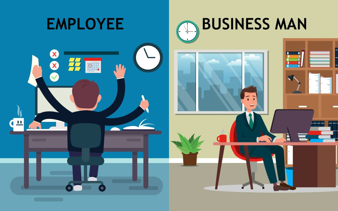 Being an employee vs having your own business