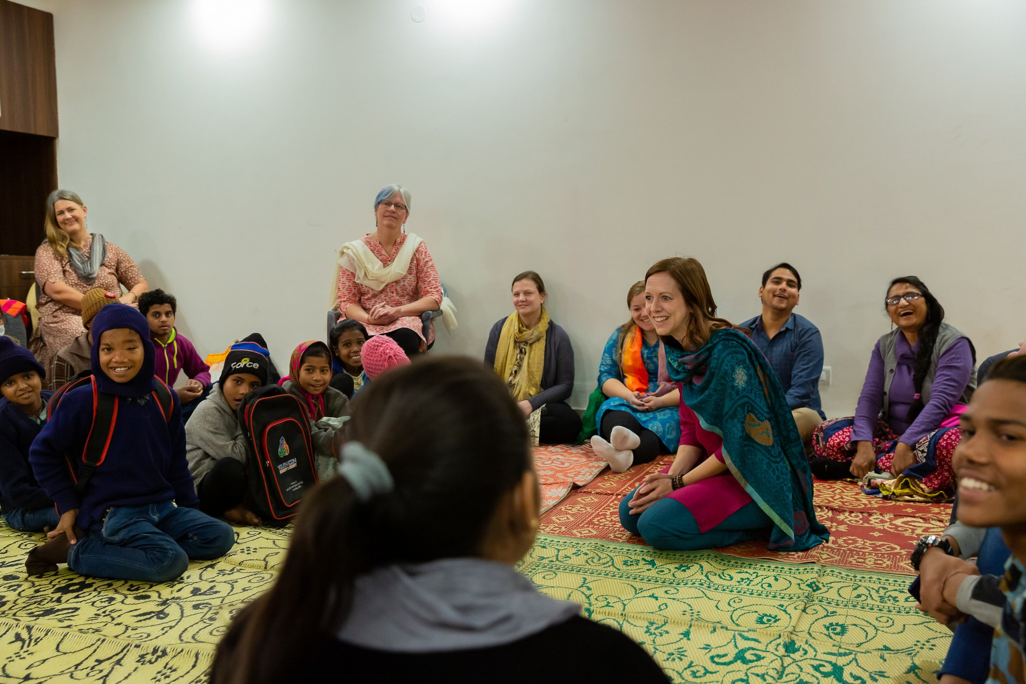 Terri leading a group activity during an AFC program in India
