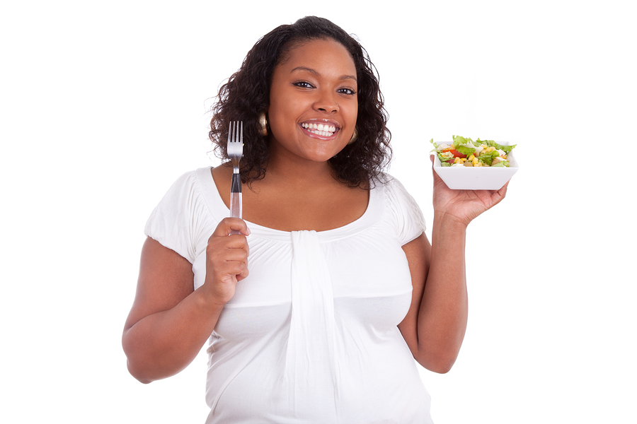 Woman eating healthy.