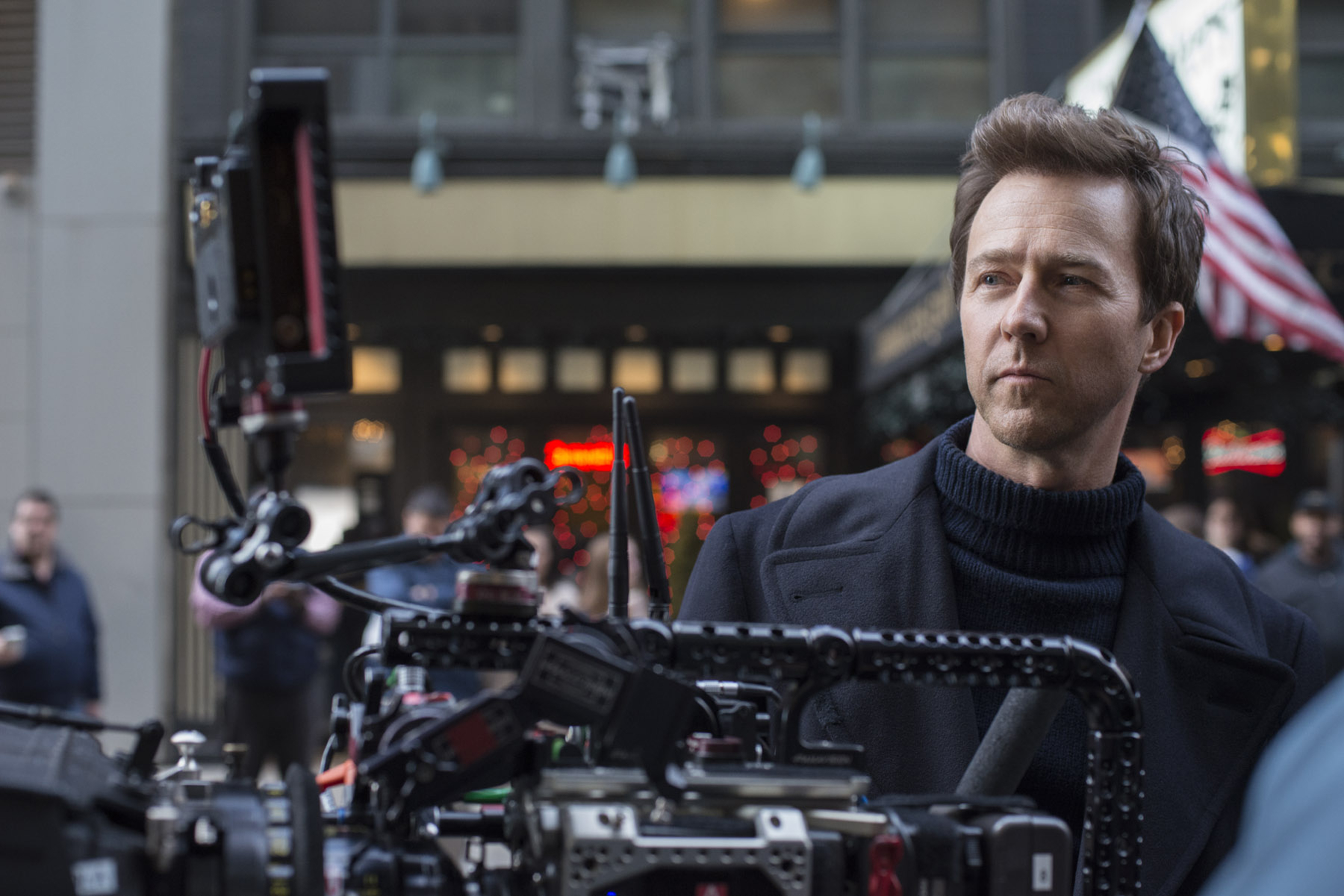 Actor/Writer/Director/Producer EDWARD NORTON on the set of 'Motherless Brooklyn' a Warner Bros. Pictures release.