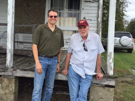 My uncle and I in Tidwells, Virginia, one month before his death.