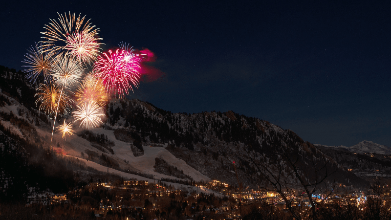 Fireworks on the mountains | No New Year's Resolutions – Just 7 Easy Steps for the Best Year Yet!