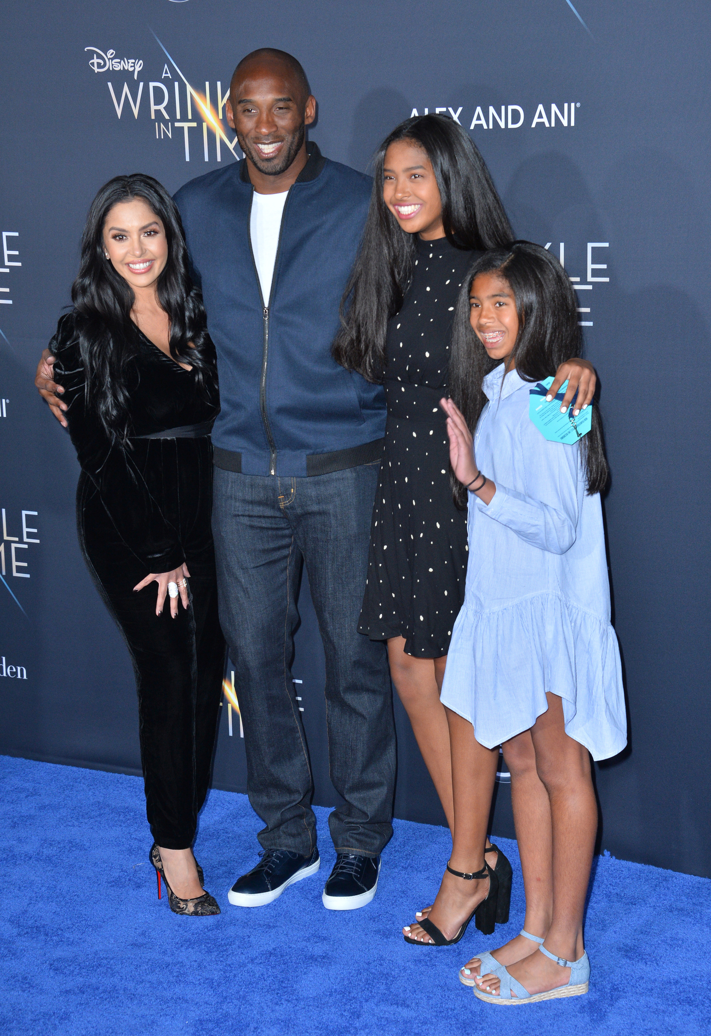 "LOS ANGELES, CA. February 26, 2018: Kobe Bryant, Vanessa Laine Bryant & Children at the premiere for ""A Wrinkle in Time"" at the El Capitan Theatre. © 2018 Paul Smith/Featureflash"