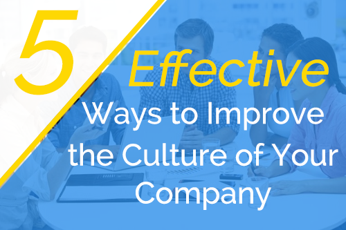 5 Effective Ways to Improve the Culture of Your Company