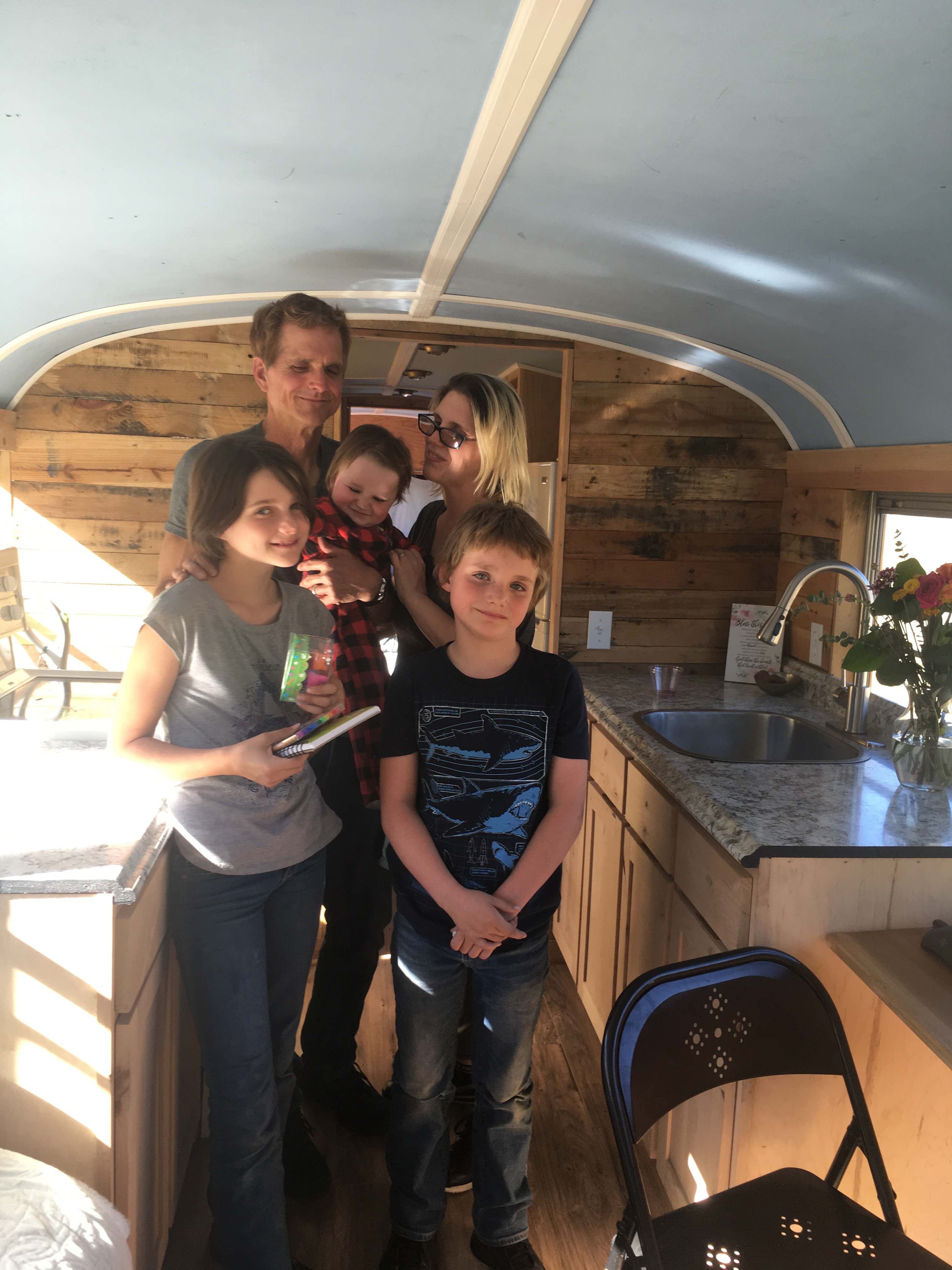 The first family housed, David, Jennifer, Raylee, David jr. and Noah