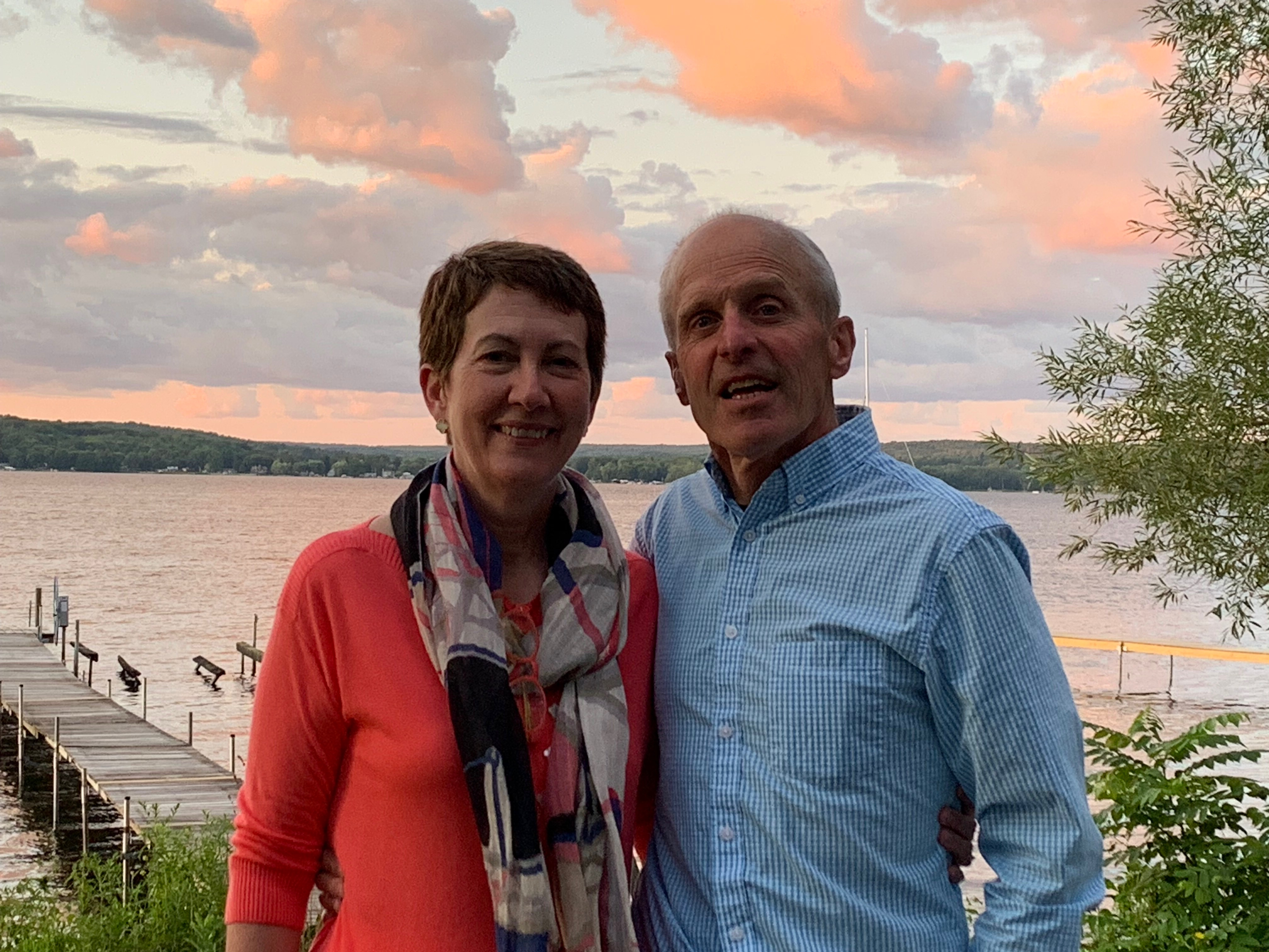 Bonnie and her husband at Chautauqua Lake. (Photo courtesy of Bonnie Gwin)