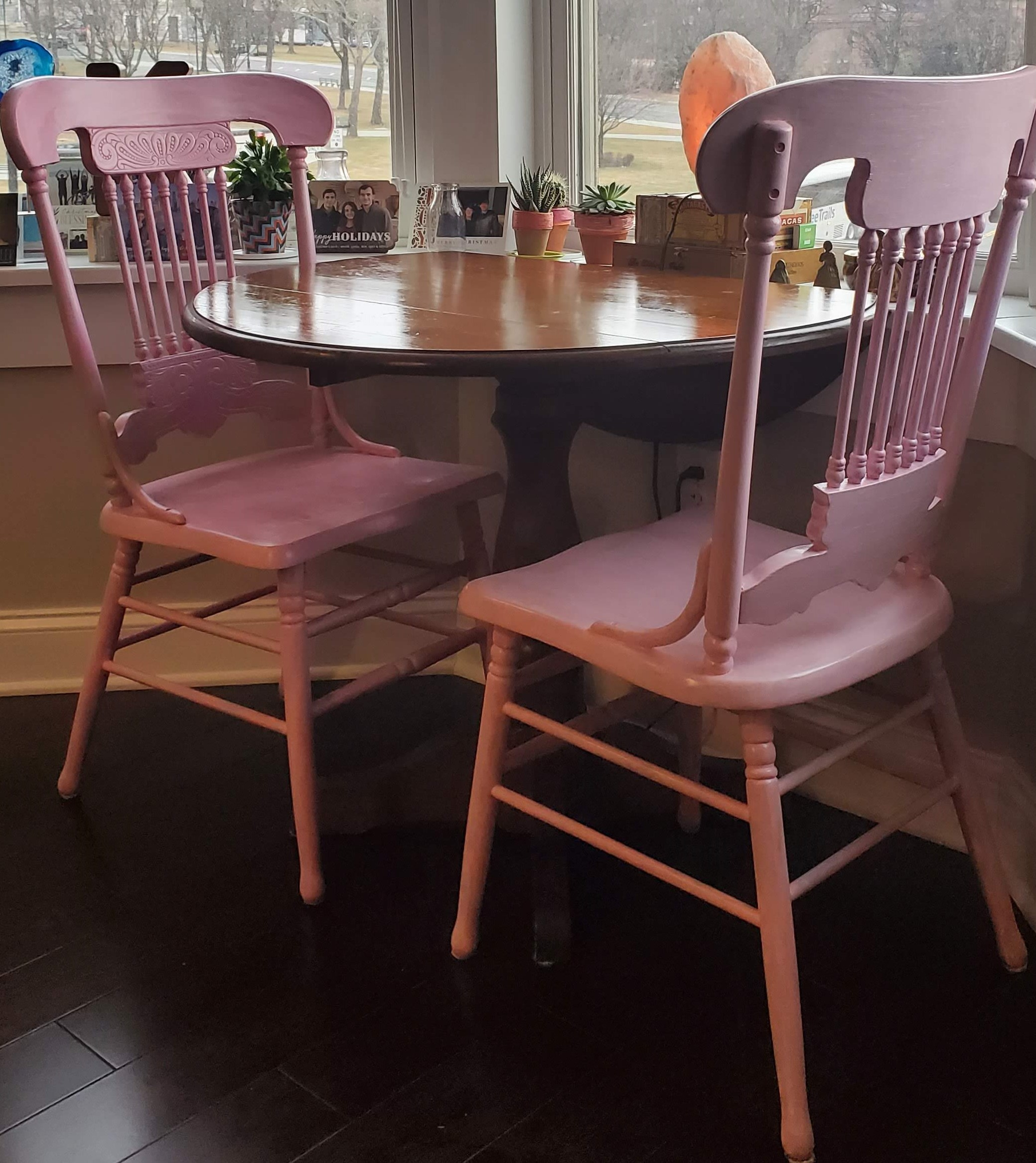 Pink Kitchen chairs are my new reality.