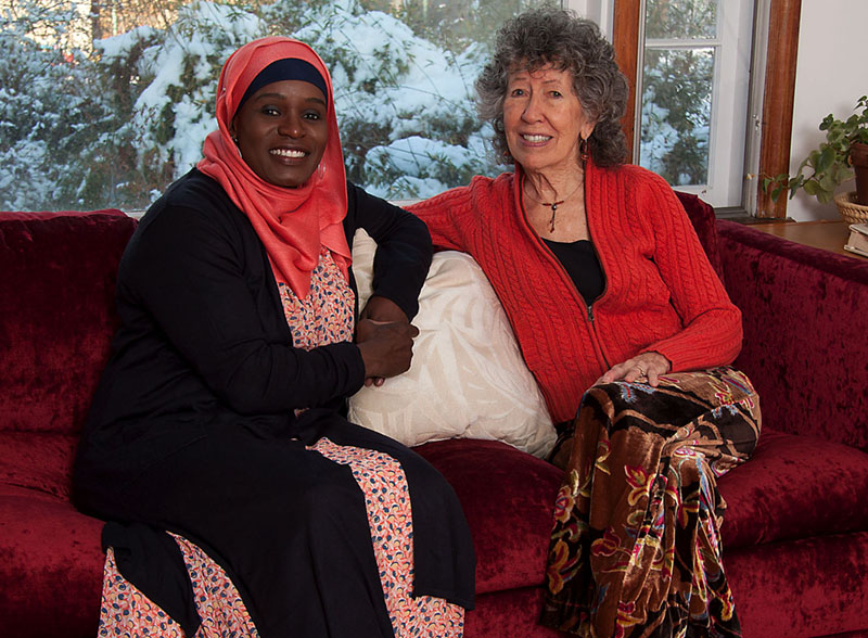 Mubarakah and Millie in Millie's living room two winters ago ~ photo by Paul Bloom
