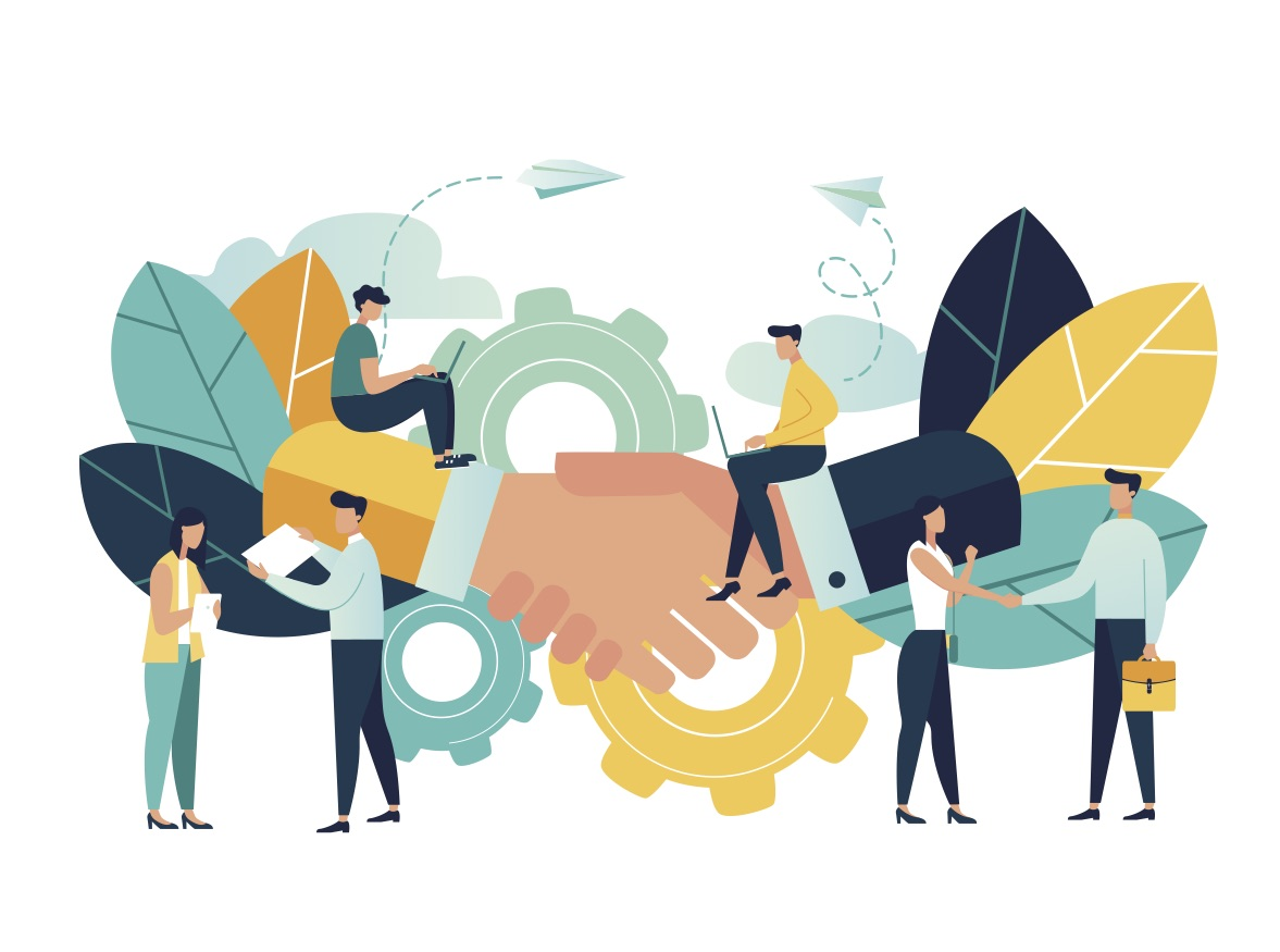 partnership vector connections personal business others illustration collaboration shutterstock relationships building simple ways illustrations agreement manufacturing viktoria