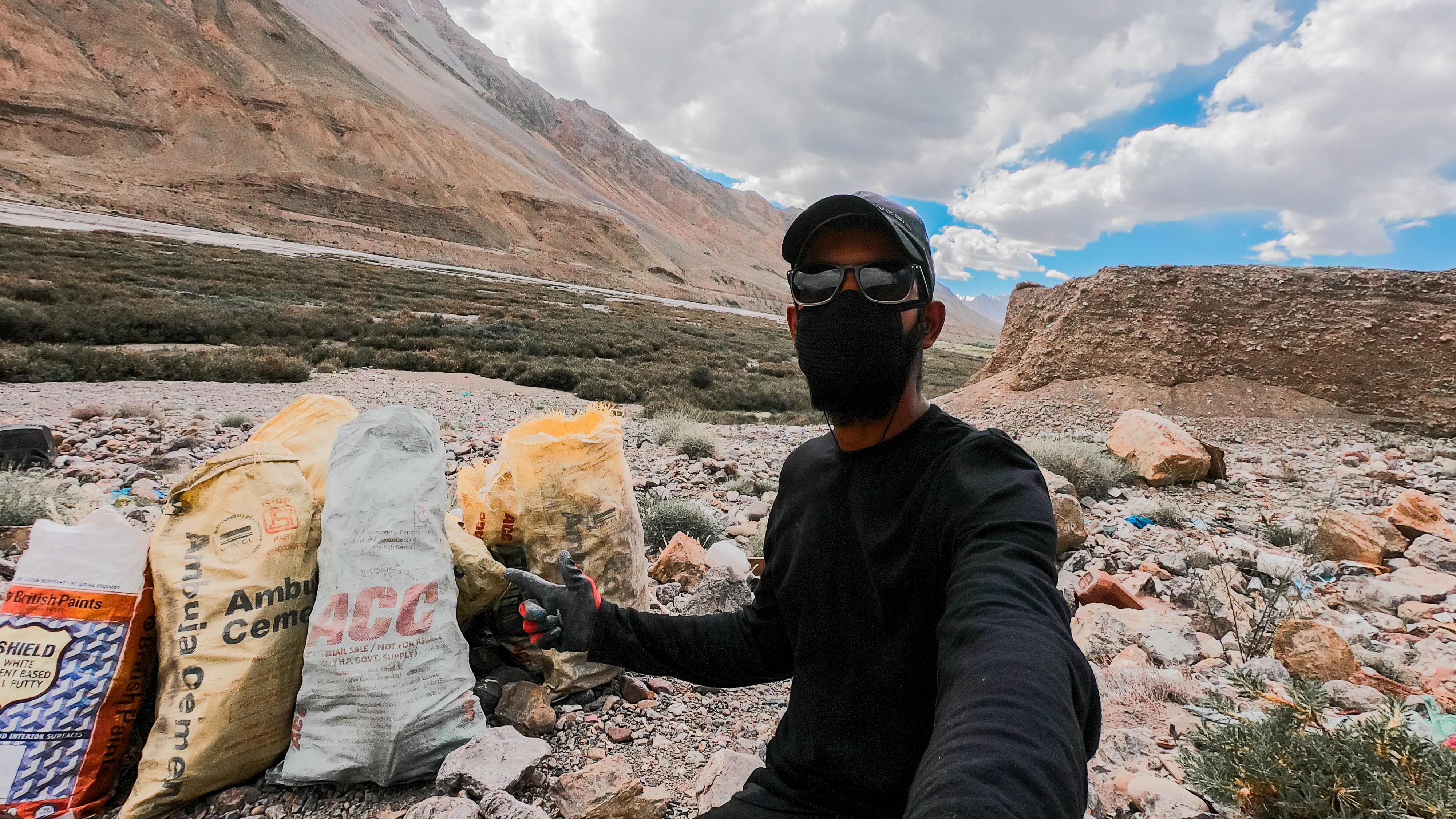 Aakash Ranison in Spiti Valley collected tonnes of plastic for cleaning the valley