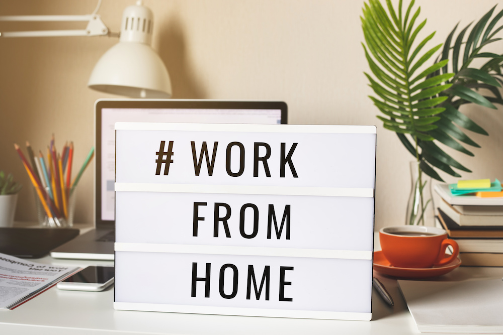 working from home social distancing | emindful.com