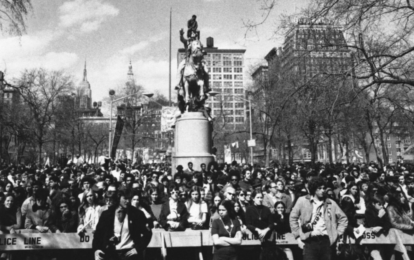 Earth Day 1970,  Union Square, New York City (Associated Press)
