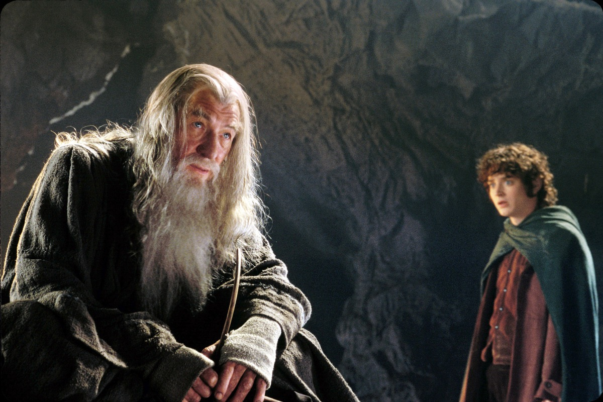 """Gandalf (L) and Frodo (R) in """"The Lord of the Rings"""""""