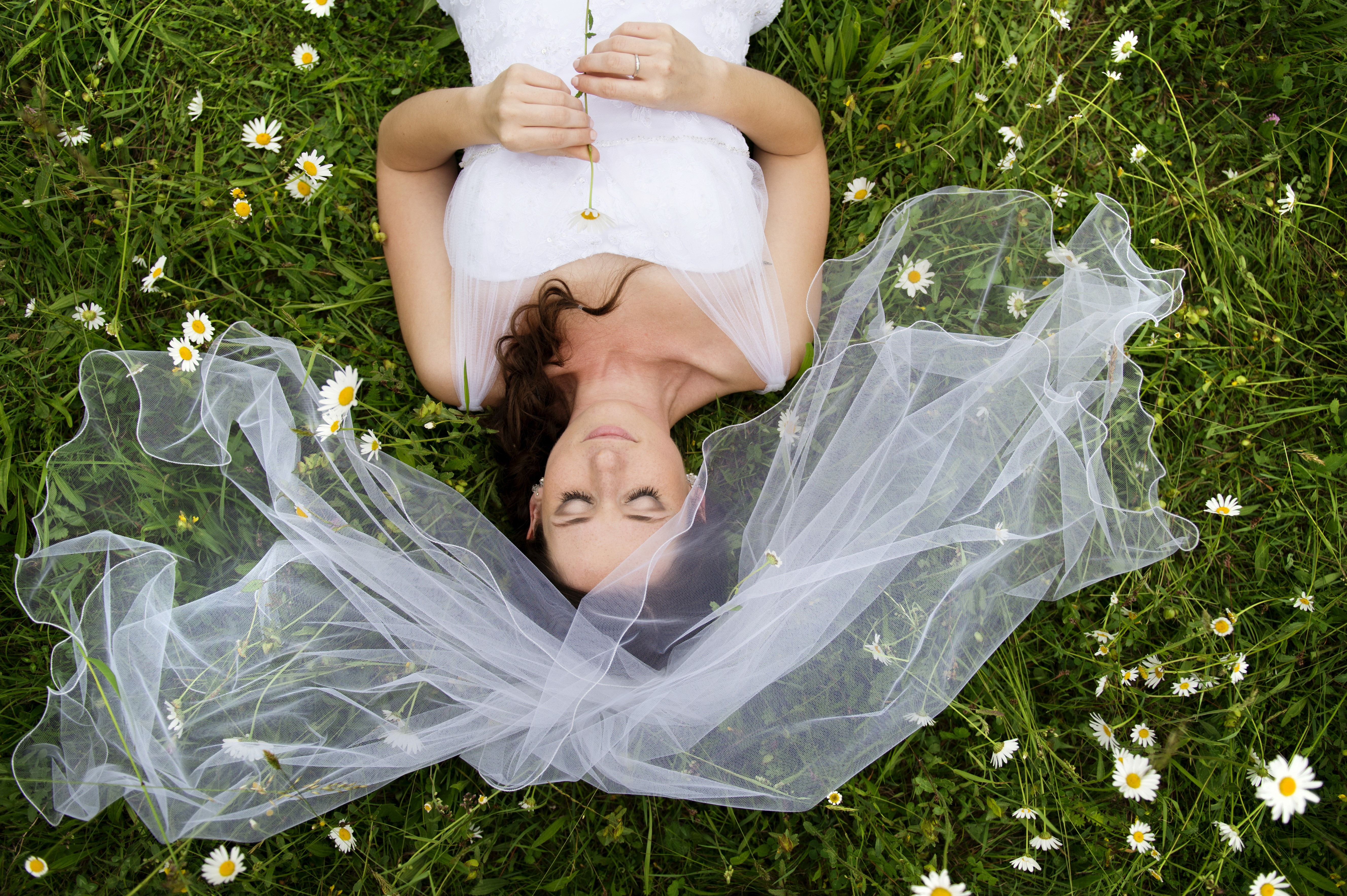 bride who shuns the traditional portrait shot