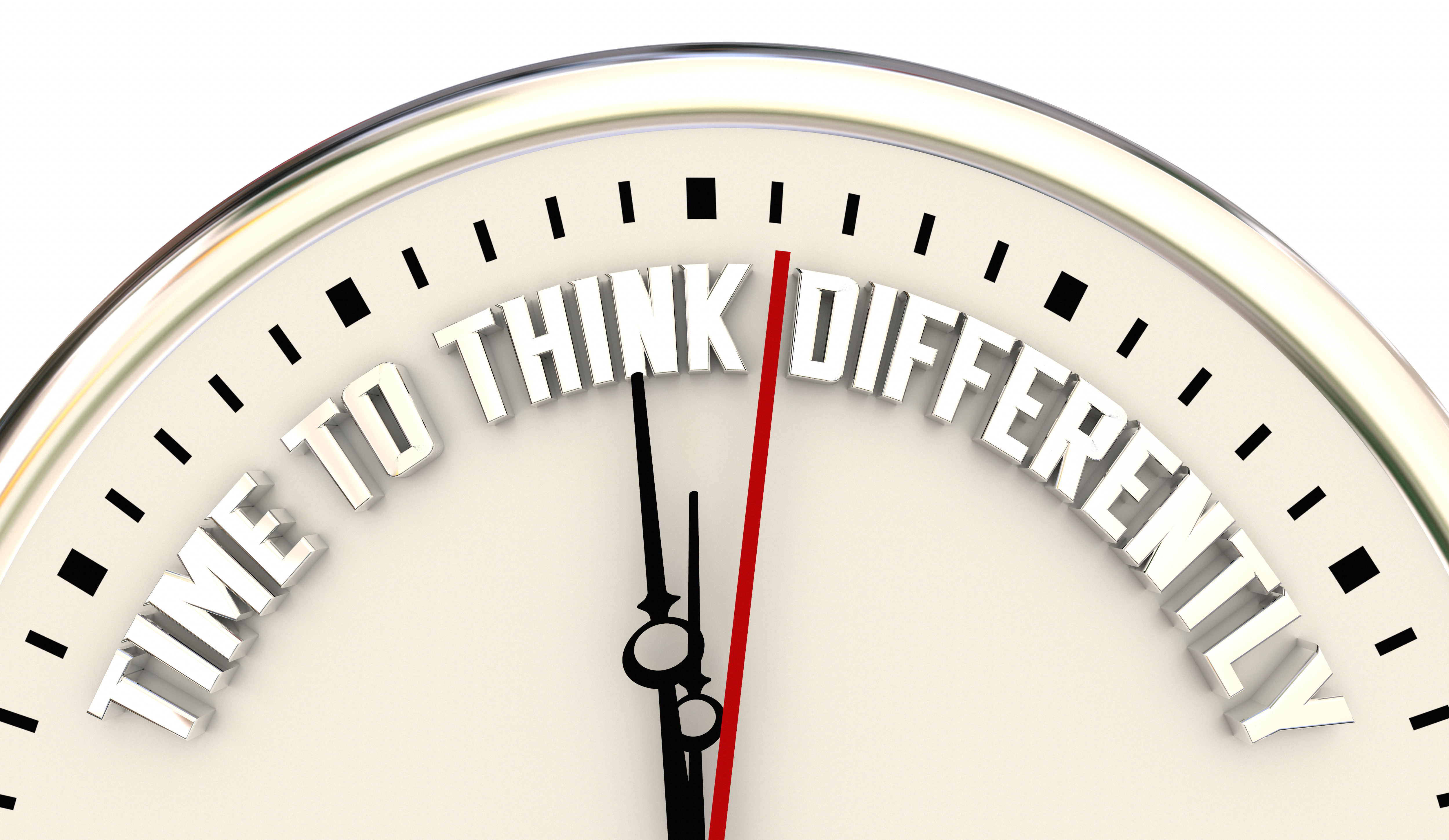 Time to Think Differently Clock