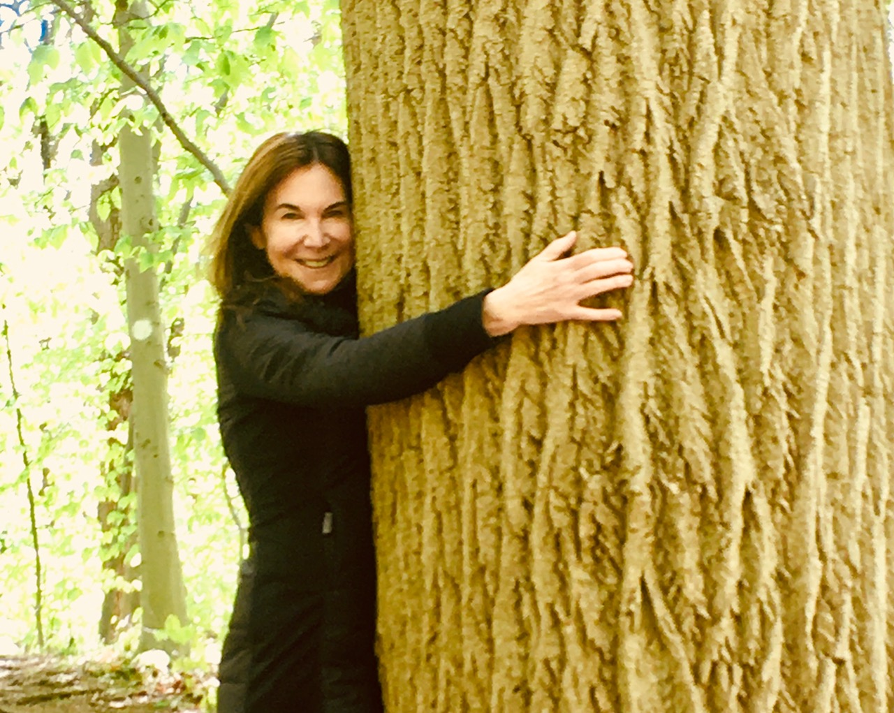 Karen Siff Exkorn and Tree.  Photo by Lisa Green