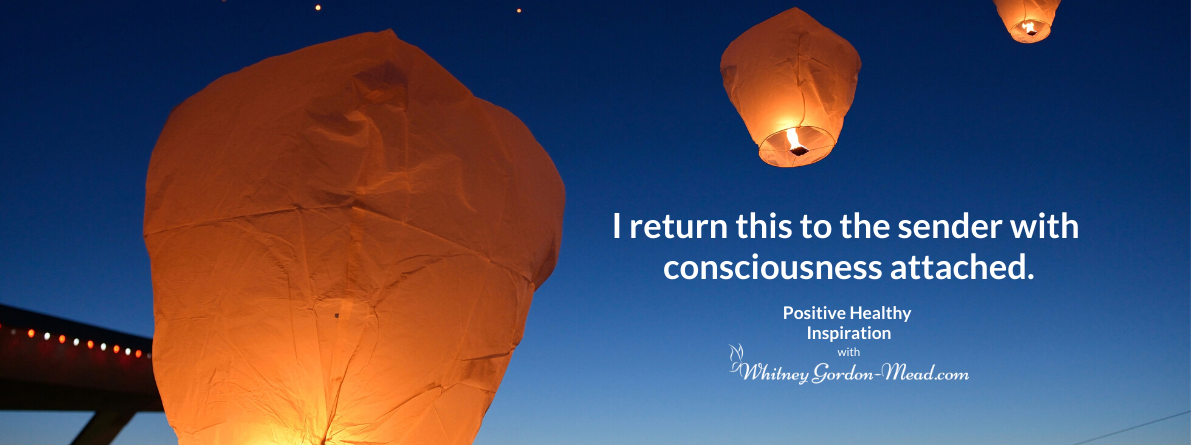 quote about release on a Chinese lantern background