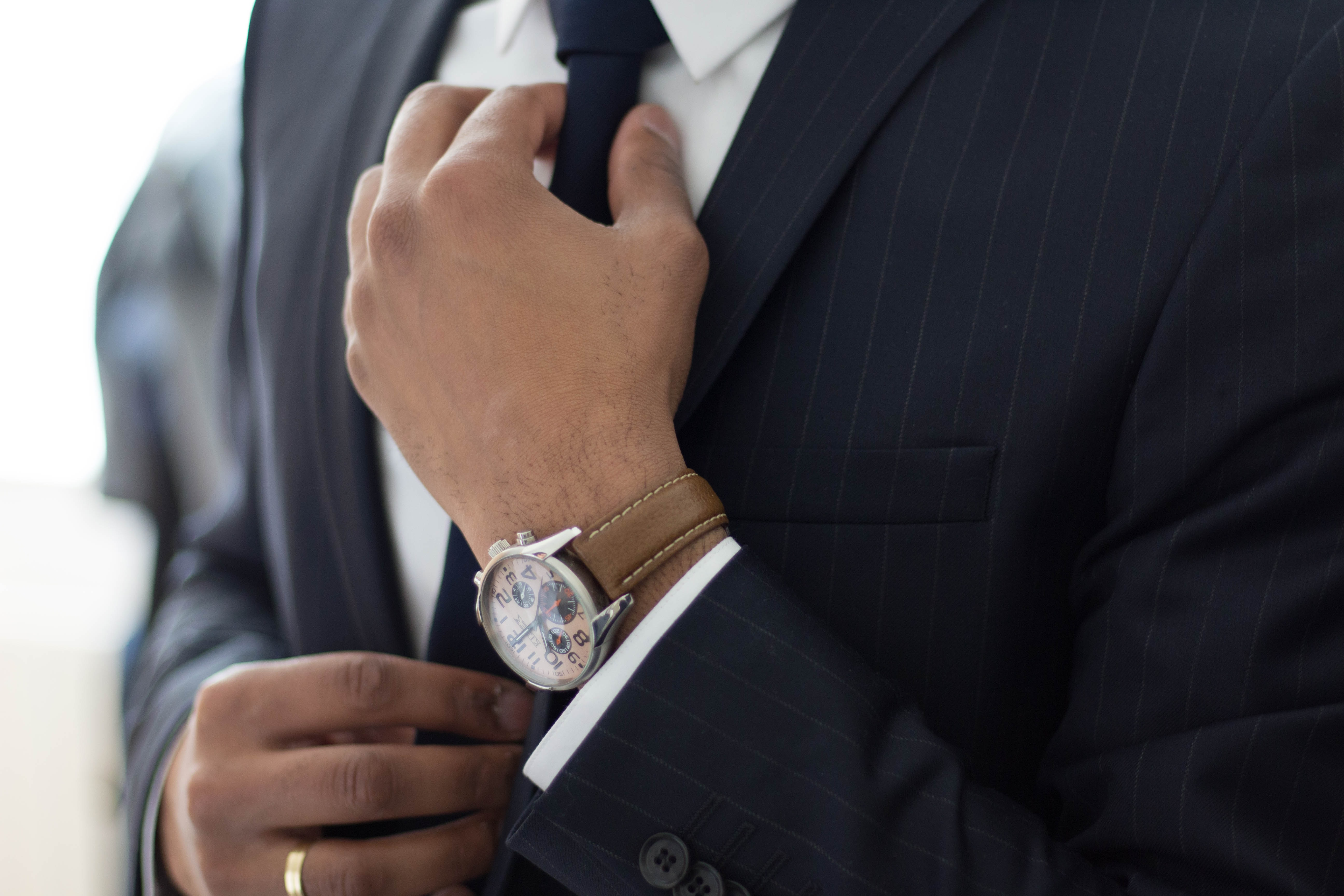 Man with suit and watch