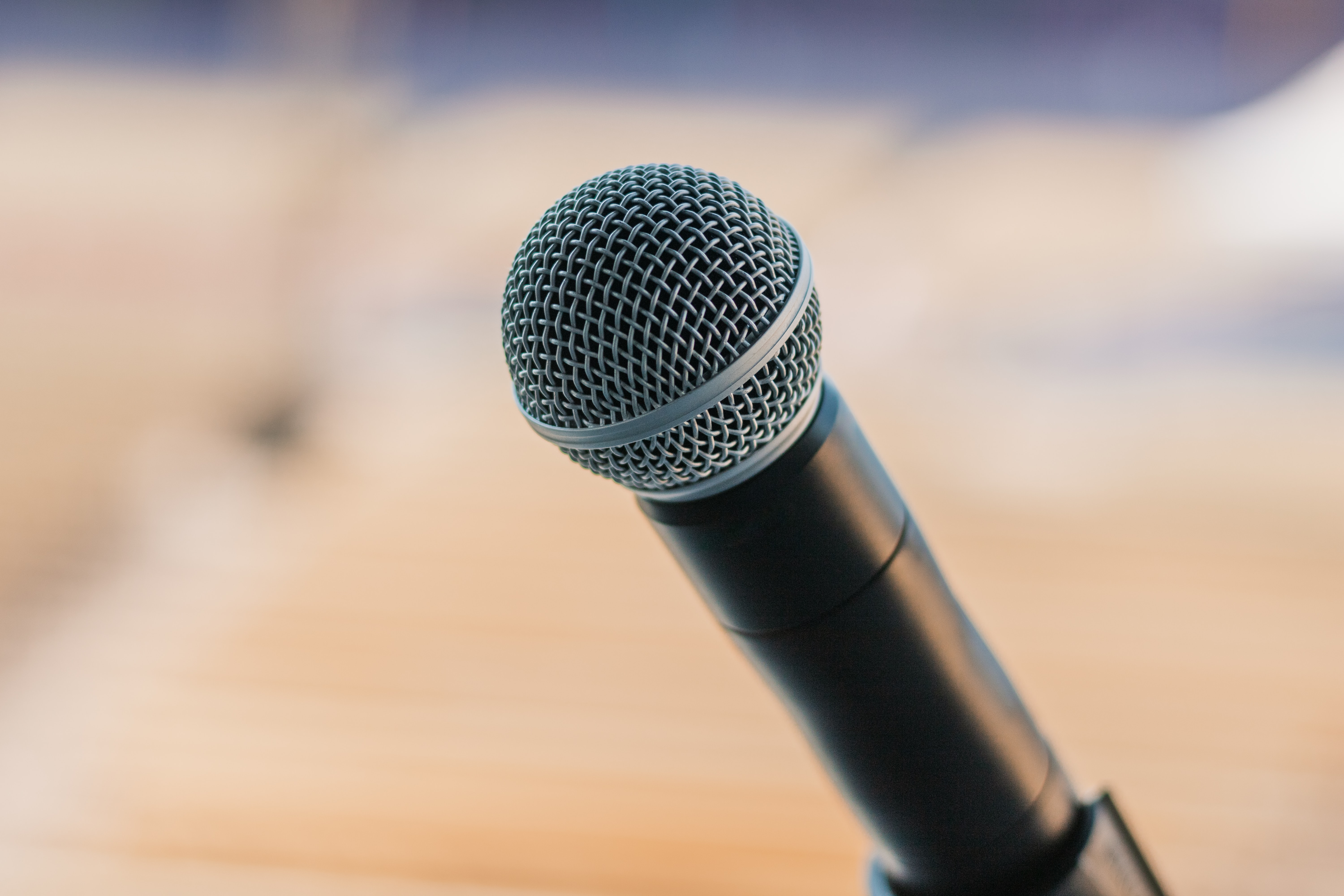 Mic. From Victor Barrios on unsplash.