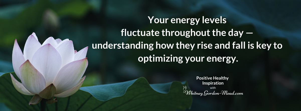 Quote about circadian rhythm on a lotus background