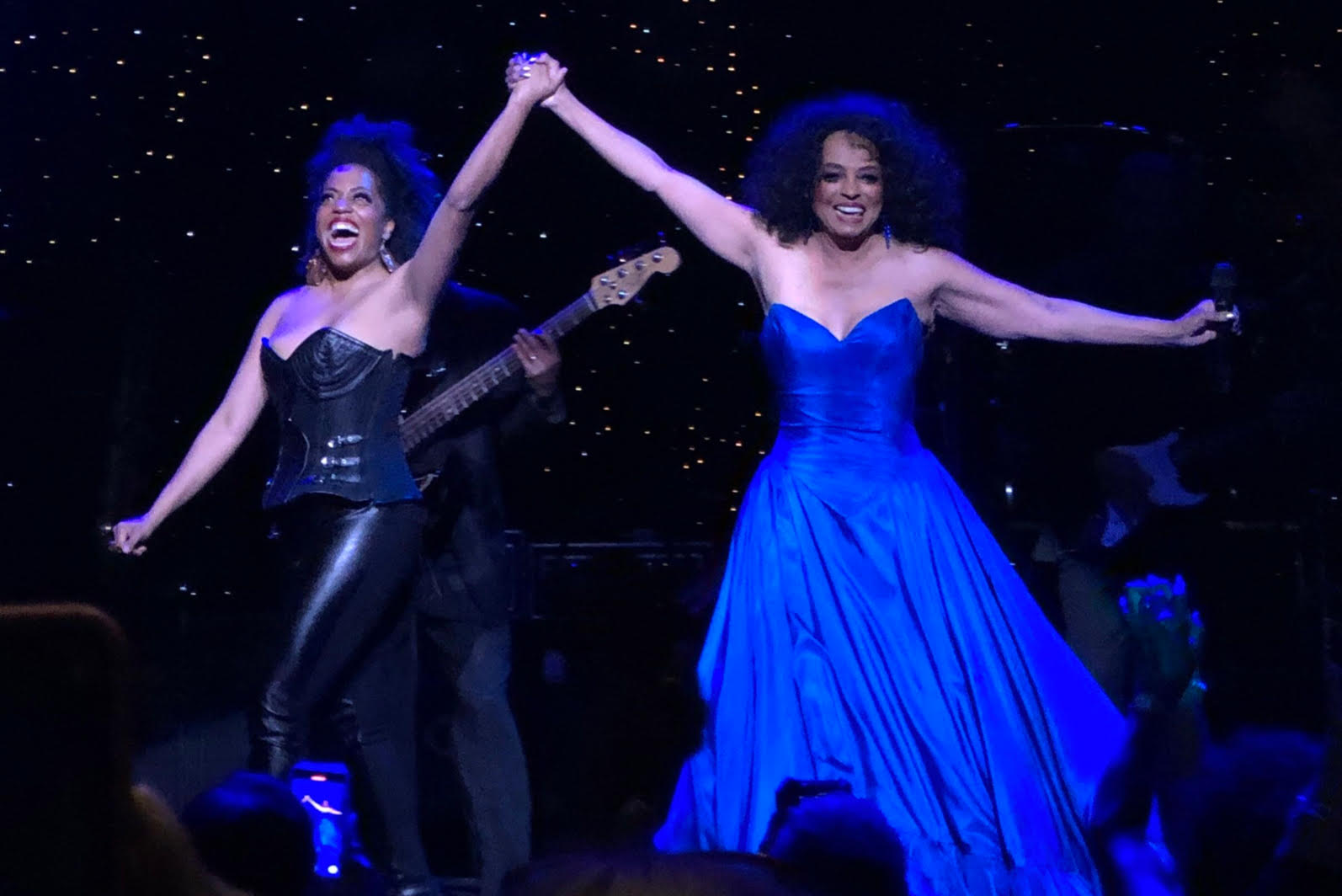 Rhonda Ross with Iconic Mom, Diana Ross on tour