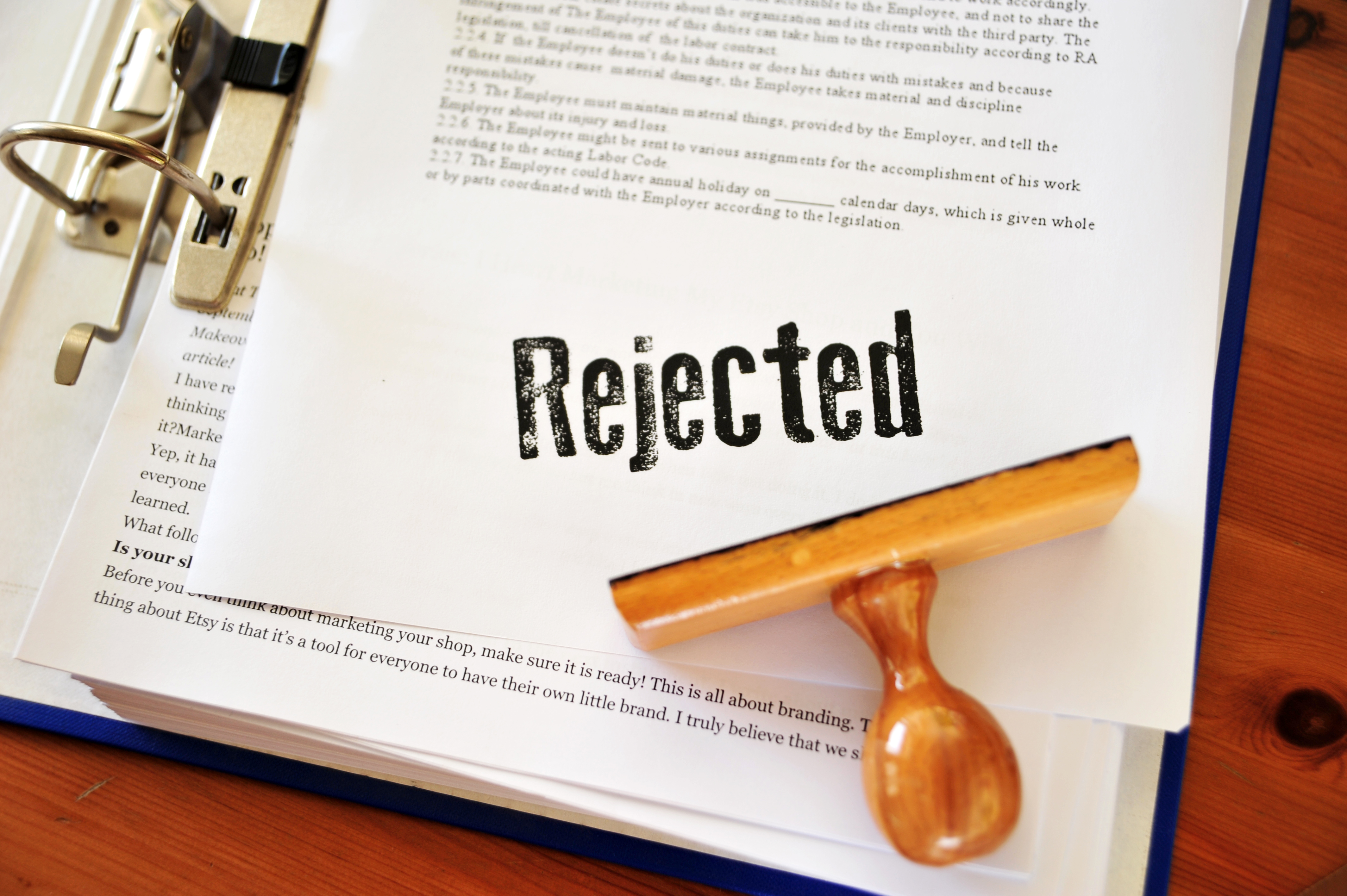 Rejected document