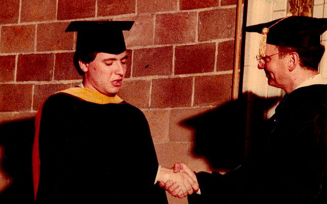 Author graduates from the once-affordable University of Pennsylvania, 1985 (Marchiz Petreanu photo)