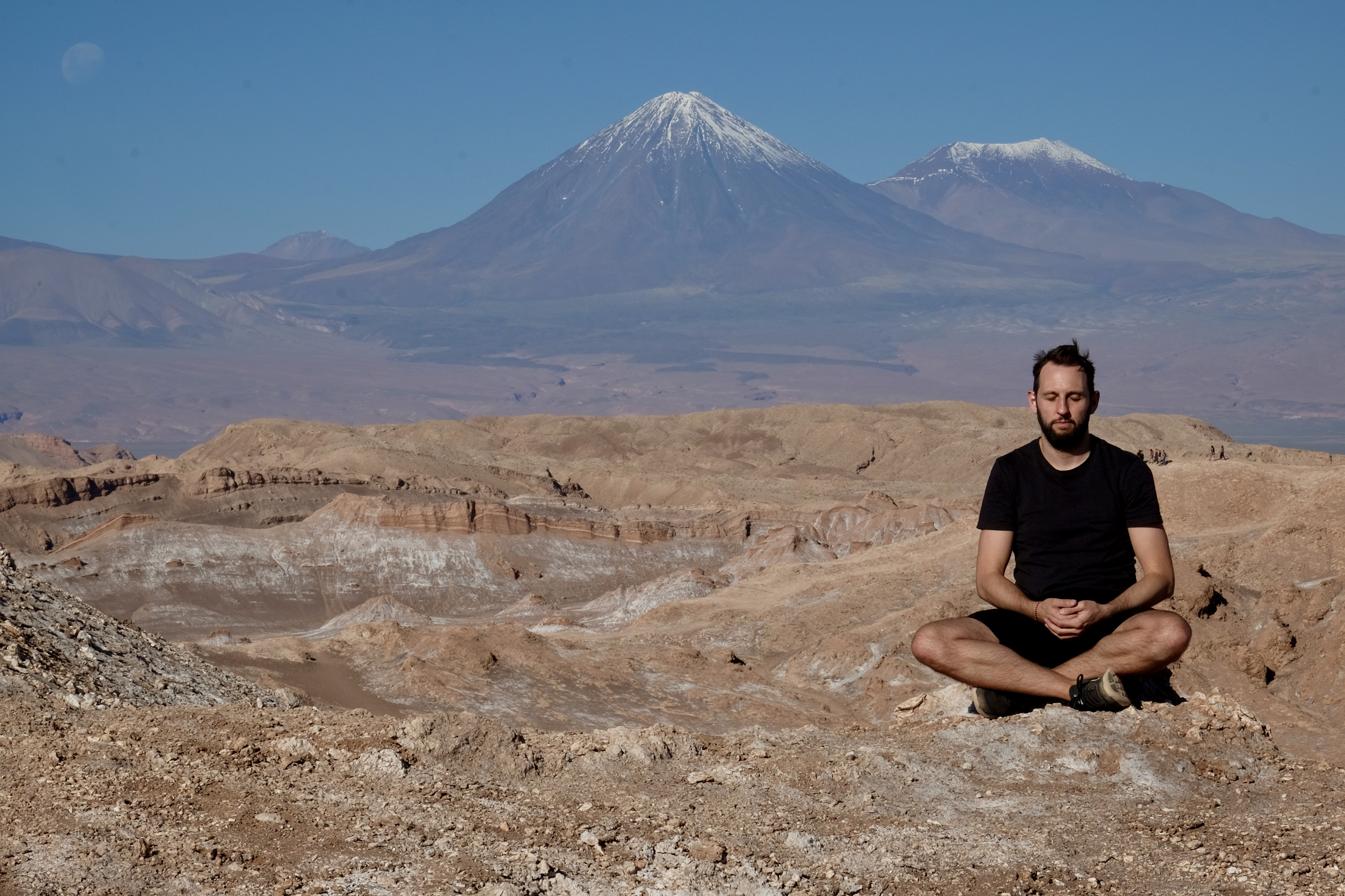 Rory Kinsella meditating in Chile
