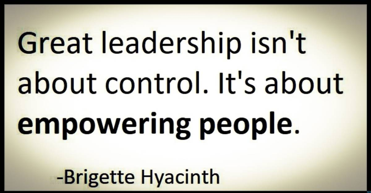 Great leadership isn't about control. It's about empowering people.