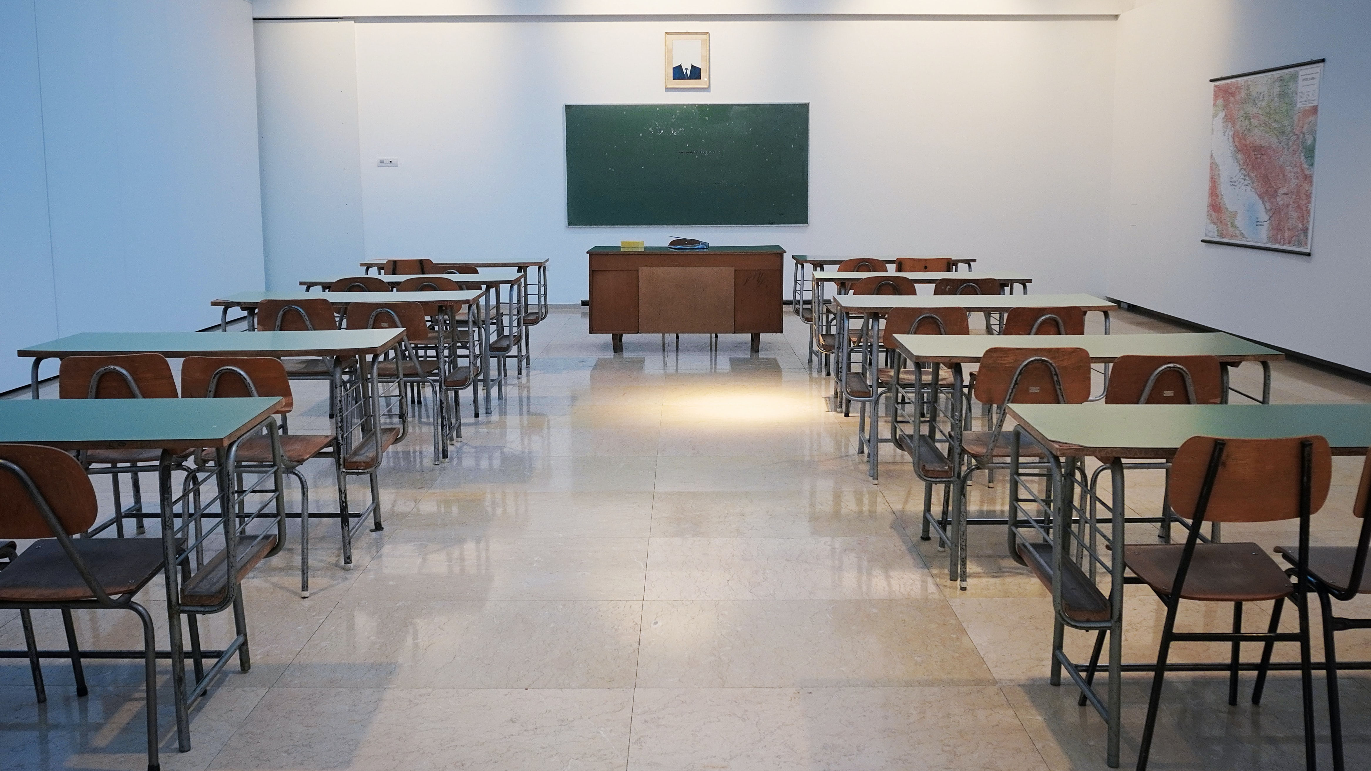Image showing an empty classroom