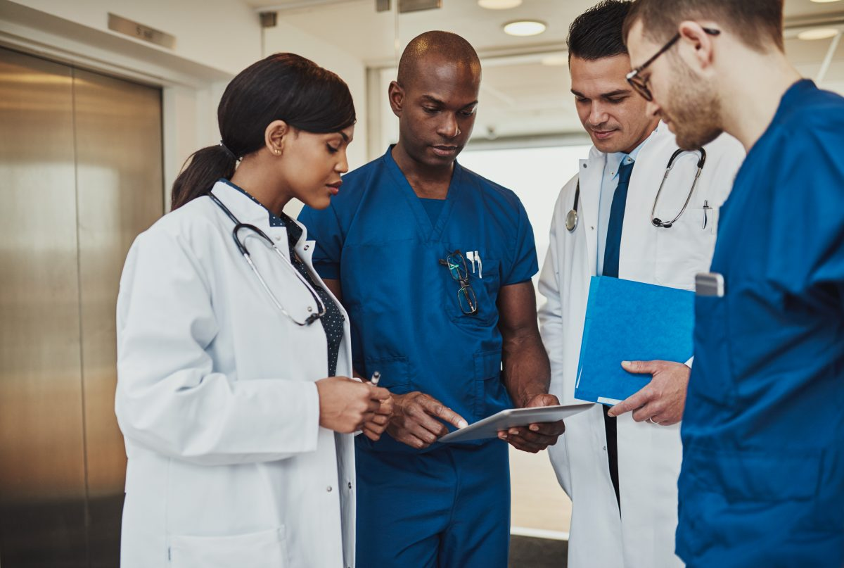 diverse healthcare workers