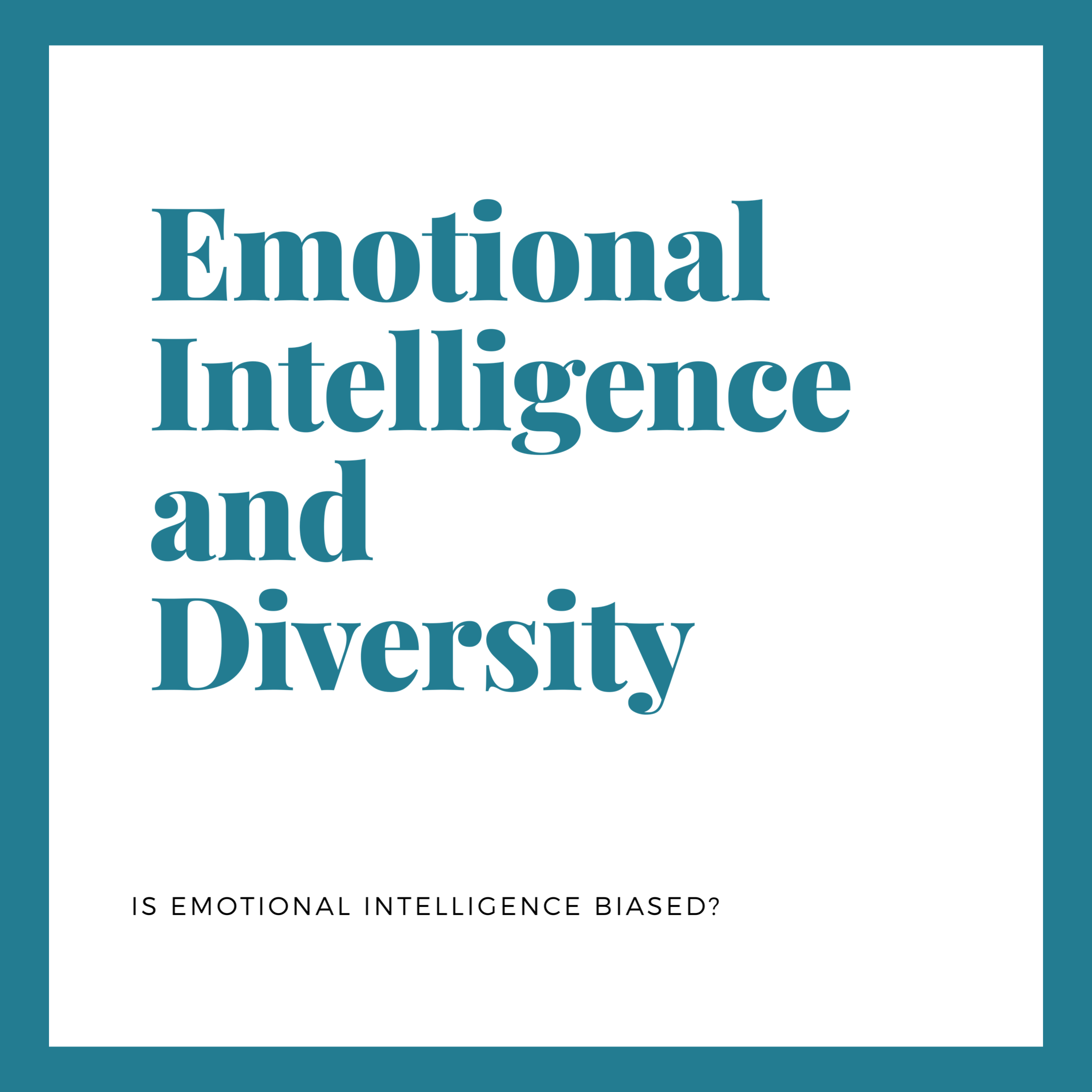 Is emotional intelligence biased against people of color?