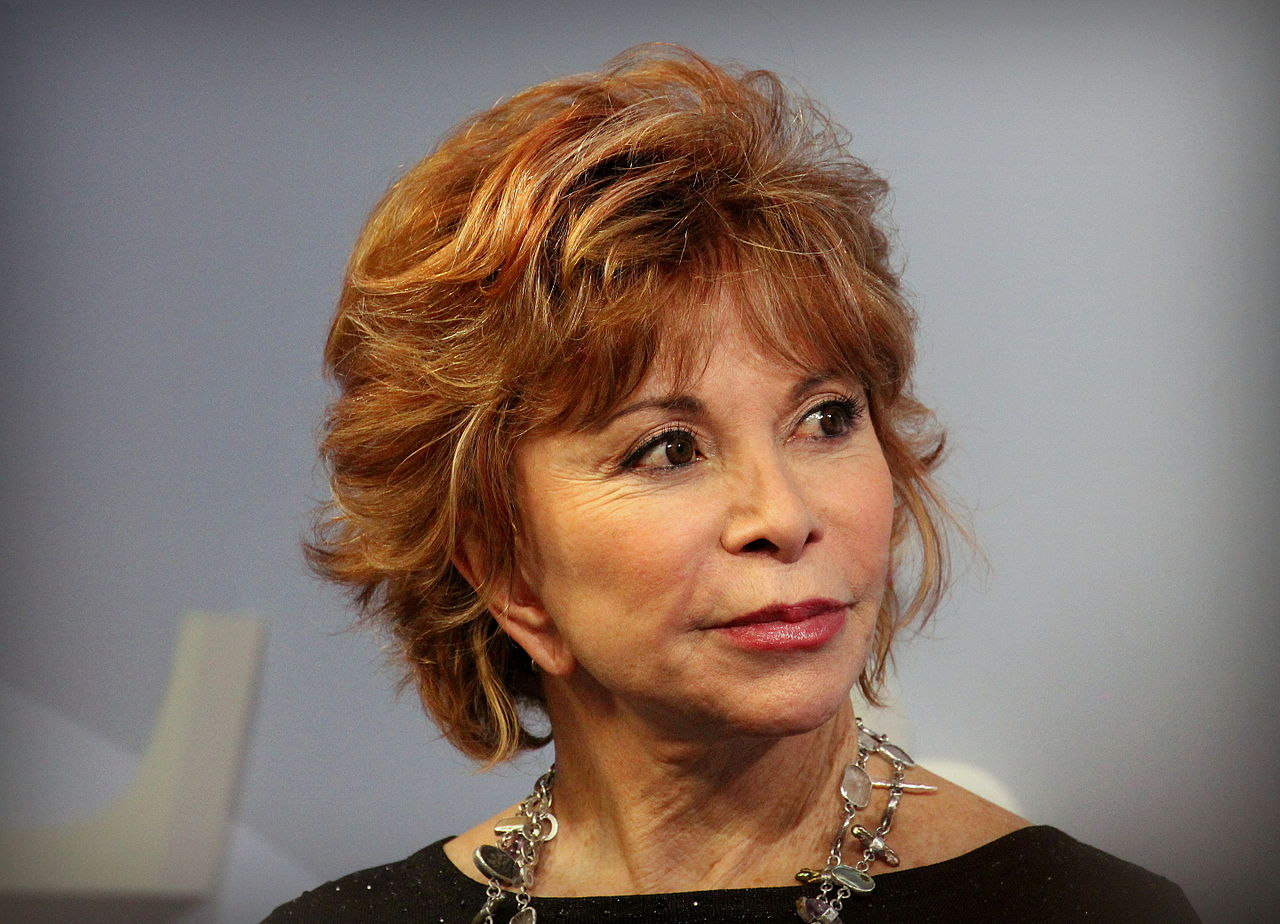Isabel Allende at the 2015 Frankfurt Book Fair.  Image by Heike Huslage-Koch, Wikimedia Commons.
