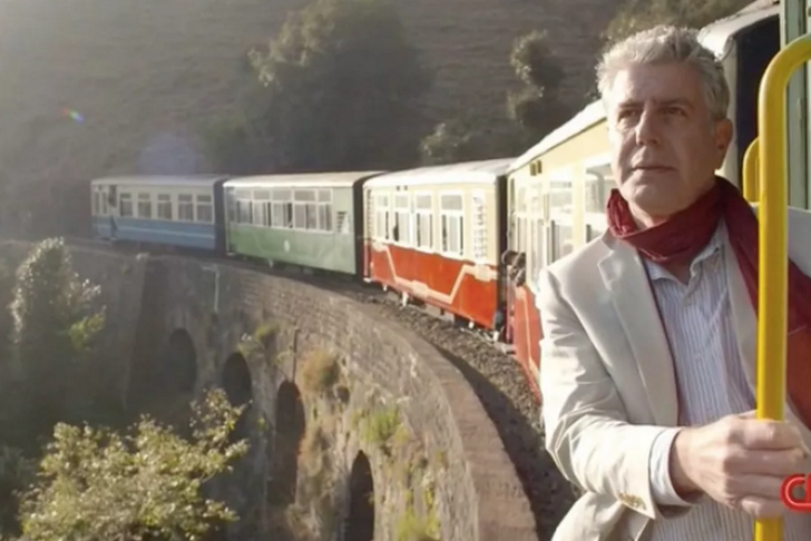 Anthony Bourdain in India for his episode on 'No Reservations'.
