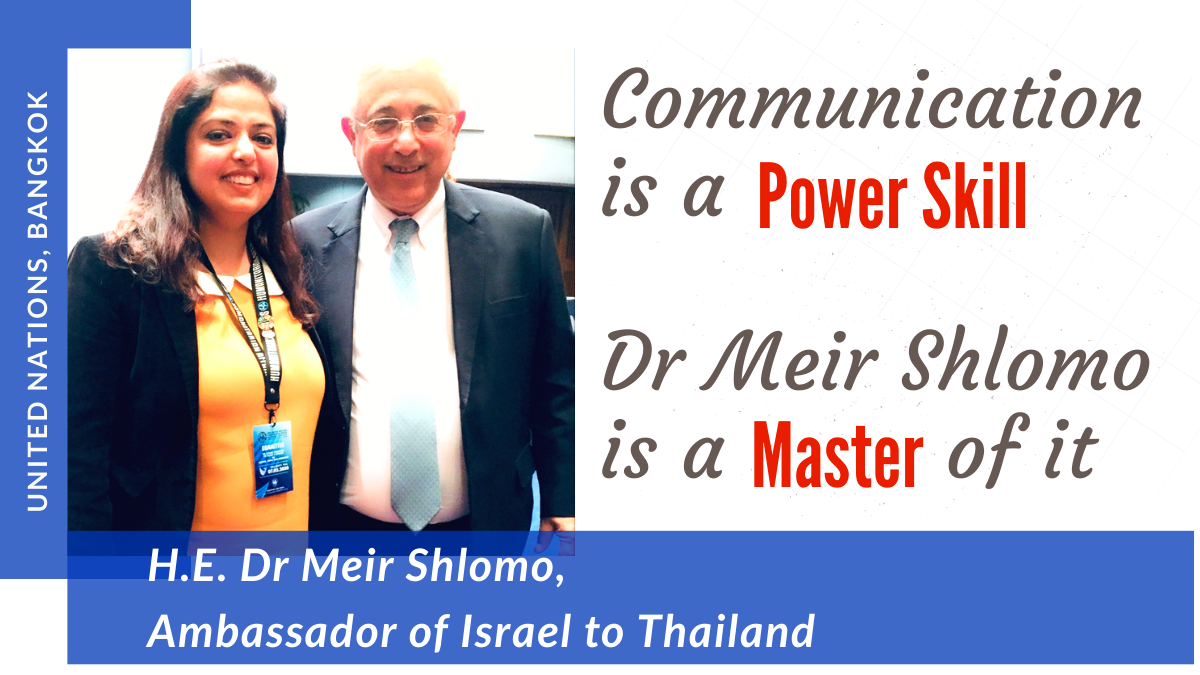 It has Dr Sholom's picture with me. It was taken after his speech which I have written my article on.