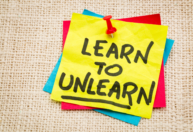 Unlearn to learn