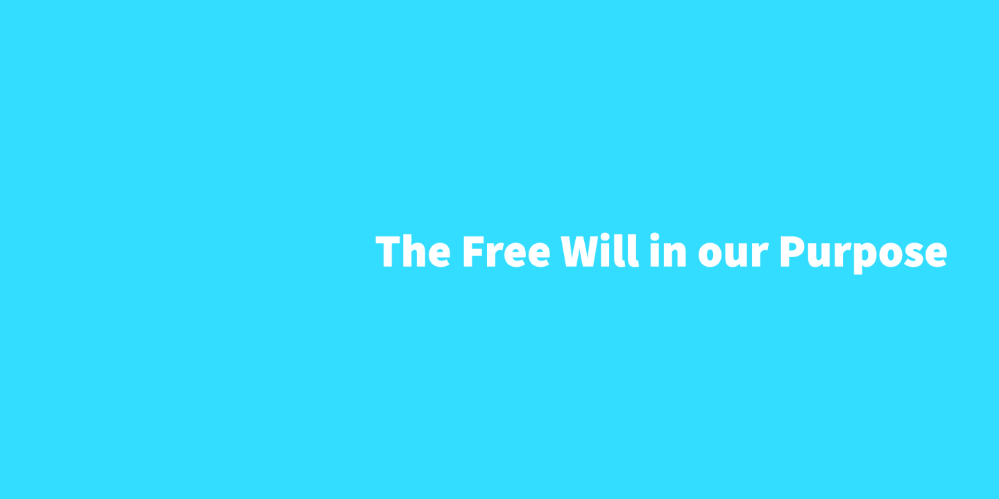 The Free Will in our Purpose