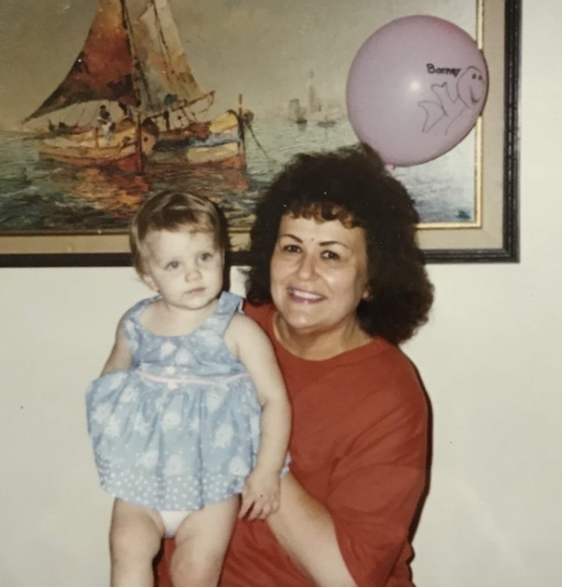Mom with her first granddaughter