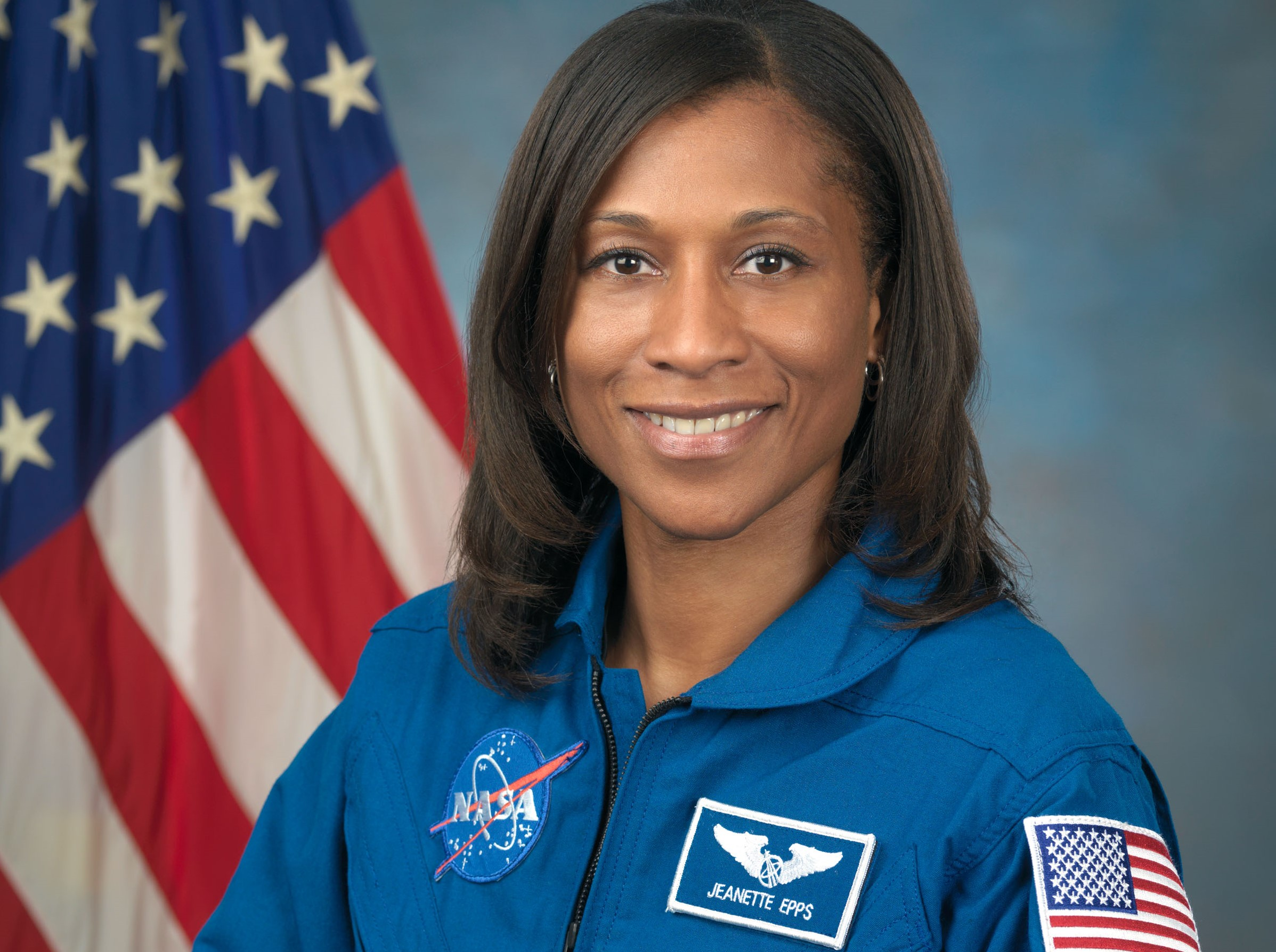Photo Date: September 30, 2009 Location: Bldg. 8, Room 272 Photo Studio Subject: Official Astronaut portrait of Jeanette Epps Photographer:  Robert Markowitz