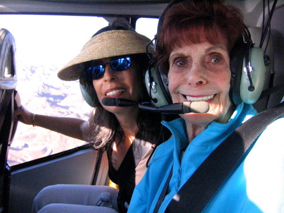 Mother and Daughter on helicopter tour of Grand Canyon