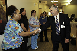 Ray Williams with Springfield Clinic Healthcare Staff