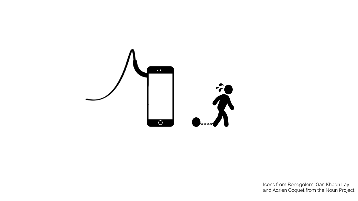 Image showing a man slave of his phone