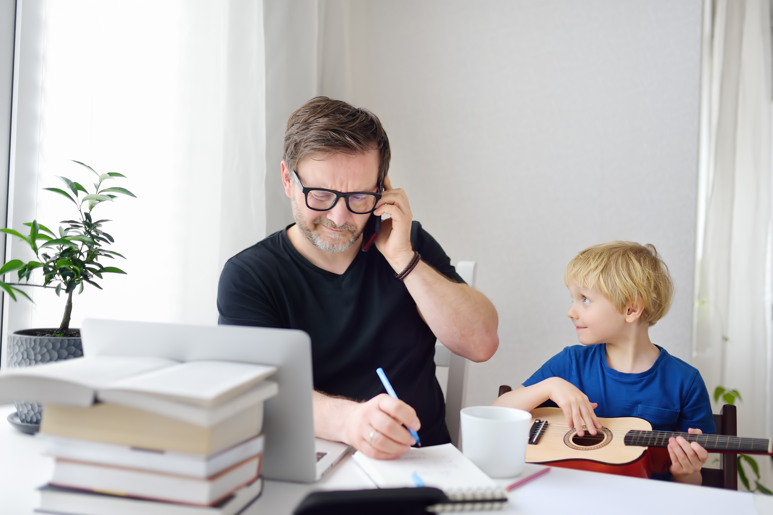 distracted working from home business owner